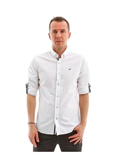 Collezione Uzun Kollu Gömlek Beyaz